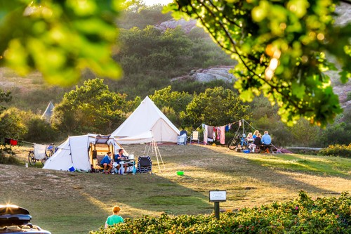 Camping er populært på Bornholm.